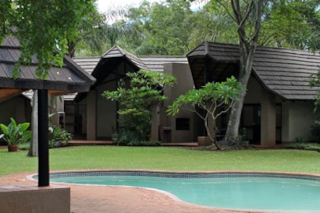 Private swimming pool for each group of 10 chalets