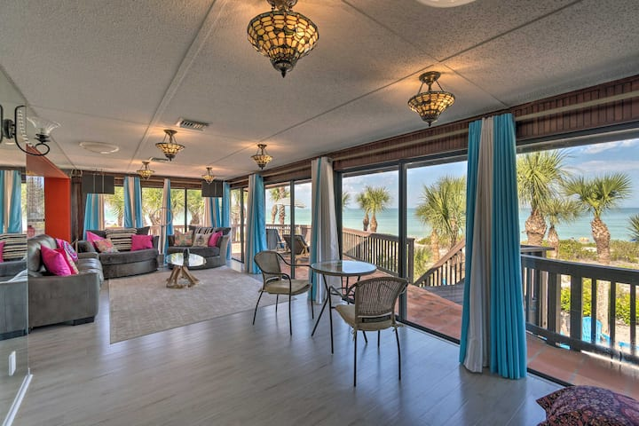 NEW! Luxe Beachfront Villa with Spa & Gulf Views!