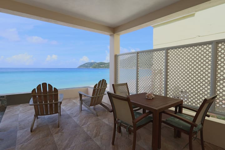 Ocean Mist Beach Front Villa at Apple Bay with AC