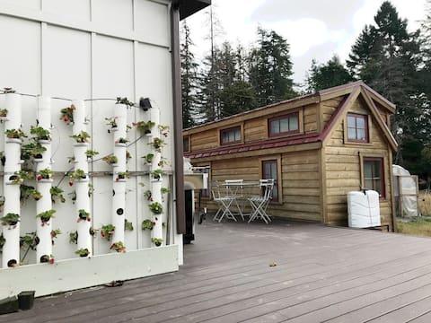 Tiny House on Organic Farm with Farm Breakfast