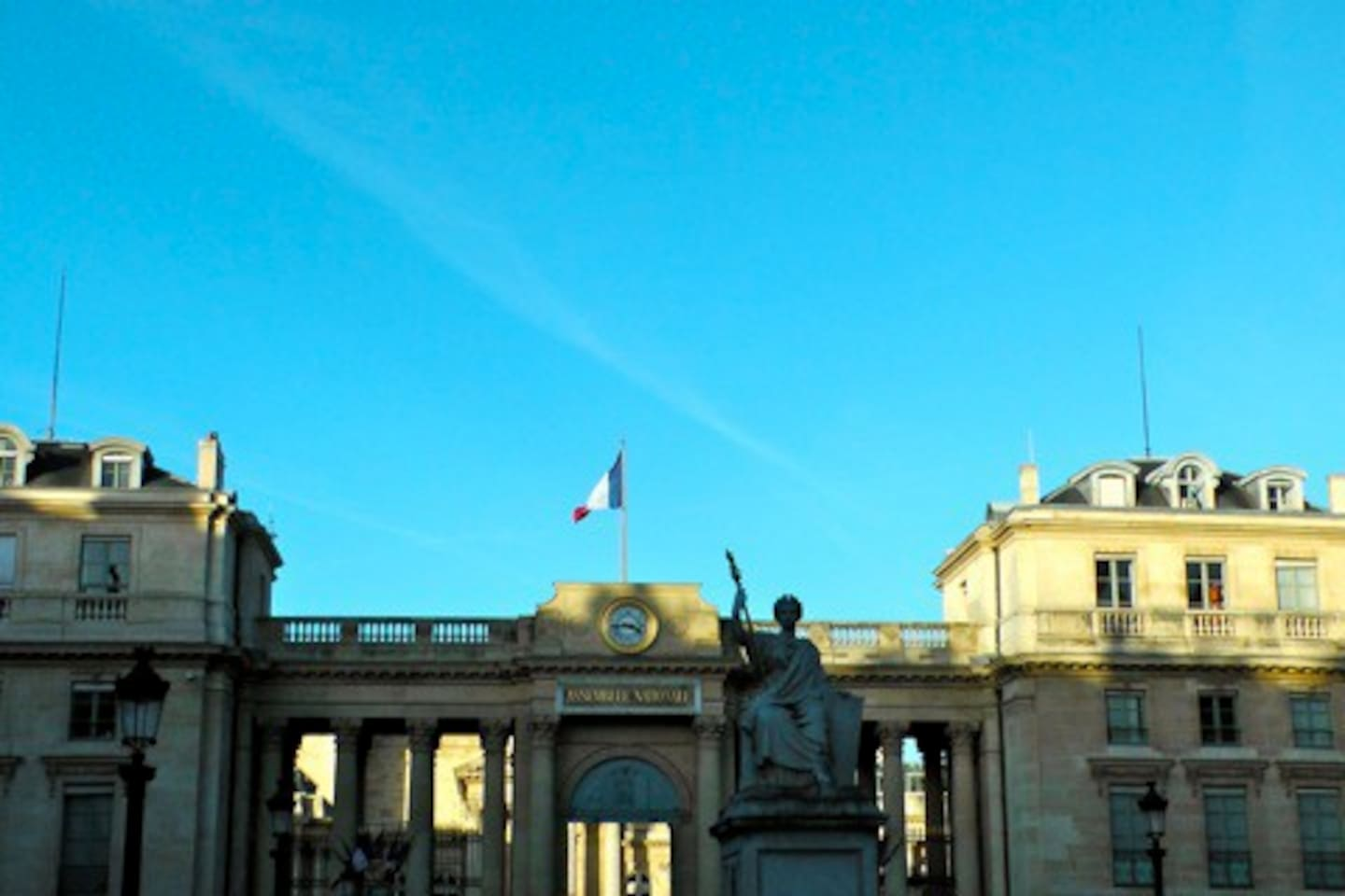 View of the Palais Bourbon which is our government chamber