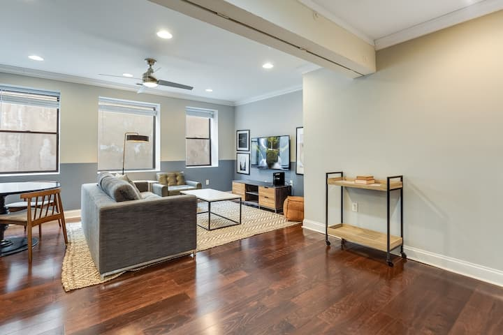 Stylish 1BR In Old City, 8min Walk To Liberty Bell