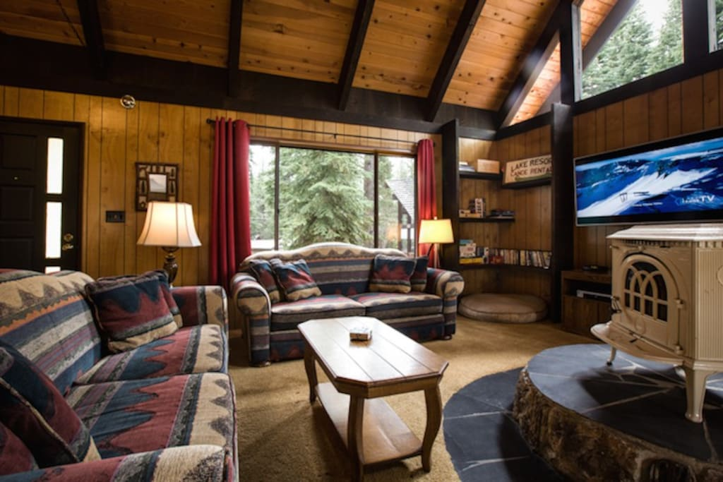 Living Room with HD Flat Screen TV