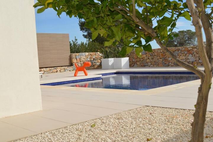 Exclusief privé villa met zicht op natuur, privé