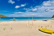 Calm beach. Kayak ready. Let's go!
