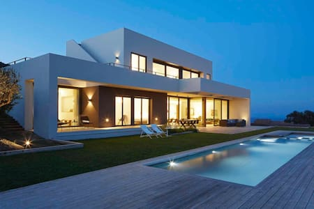 Modern villa with panoramic sea views.