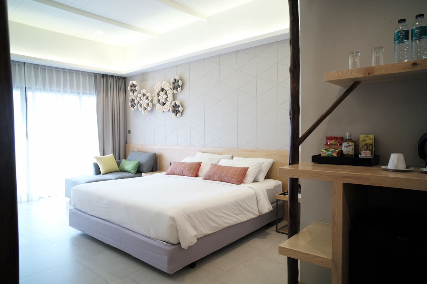 Double beds with Sofa Bed