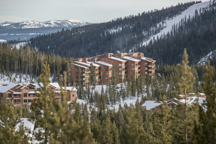 Sunny Condo with wifi, mountain views - on shuttle route
