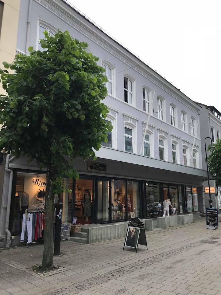 Midt i Arendal sentrum - Innholdsrik leilighet