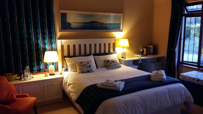 Blue room at night