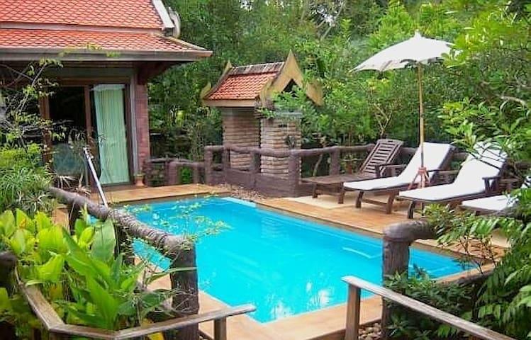 🌴Thai luxury Private PoolVilla1BR☀ 15min to beach