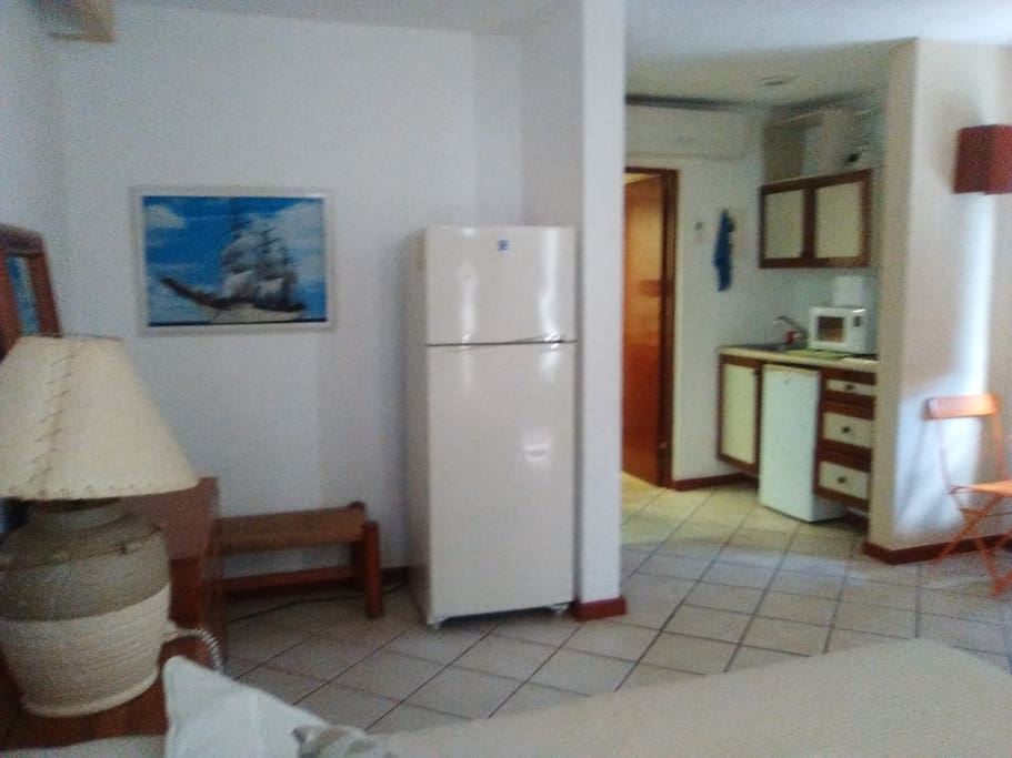 All you need : Cozy room, large fridge, kitchennette, doble bed, balcony, complete bathroom and just  a few steps from Pool and beach access.