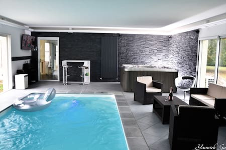 bedroom jacuzzi indoor heated pool - Pessac - Haus