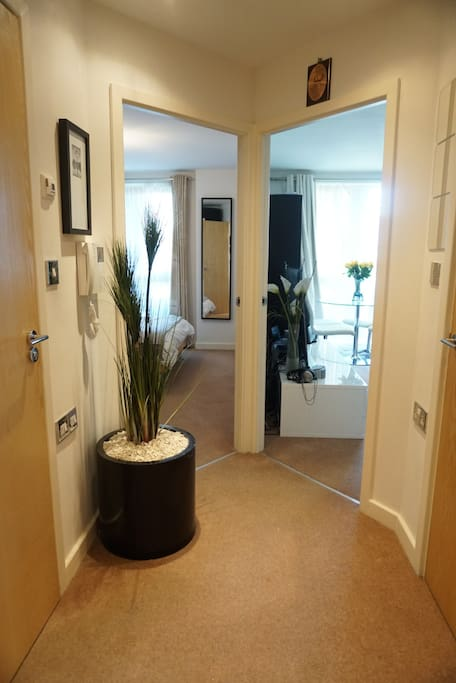 Hallway as you enter the flat