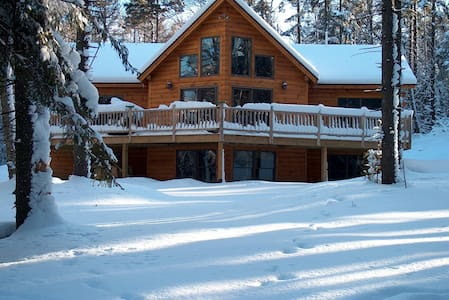 Jay Peak Log Home in Winter Wonderland - Montgomery