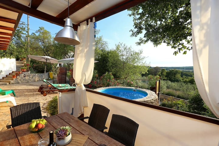 House with 2 bedrooms in Hrvatska, with private pool, furnished terrace and WiFi - 3 km from the beach