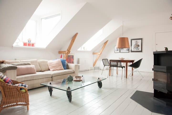 116kvm - havn - skov - vand - i charmerende by - Klampenborg - Appartement