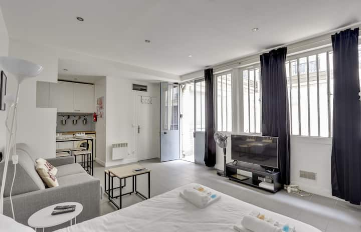 171 Suite GRETA grand studio Style APT avec 1 BDR Paris Central