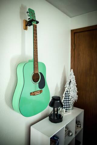 The guitar may not be in tune, but that doesn't mean it should stop you from giving it a try!