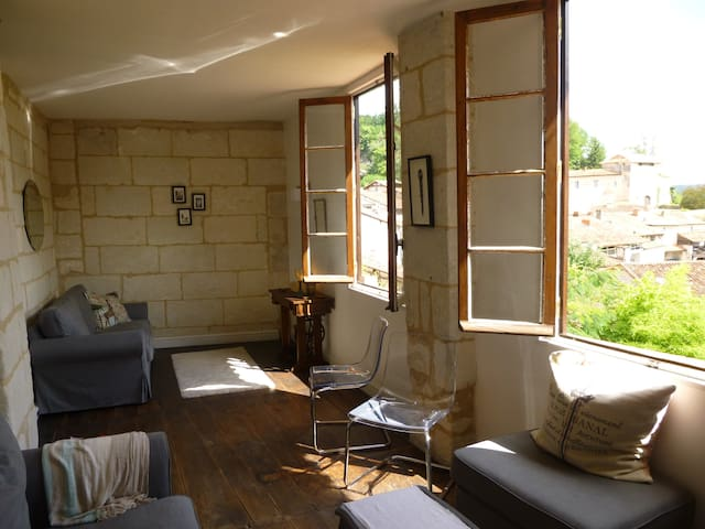 Cozy apartment for 6, with a view in Aubeterre - Aubeterre-sur-Dronne - Huoneisto