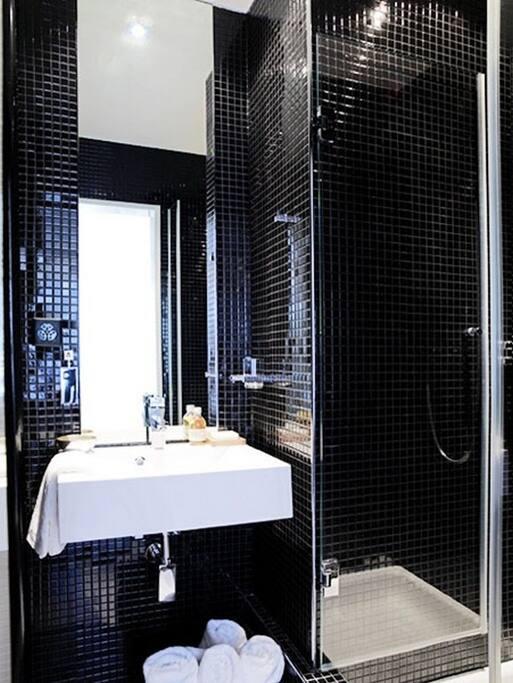 Cramerstrasse -  bathroom style, Studio Apartment