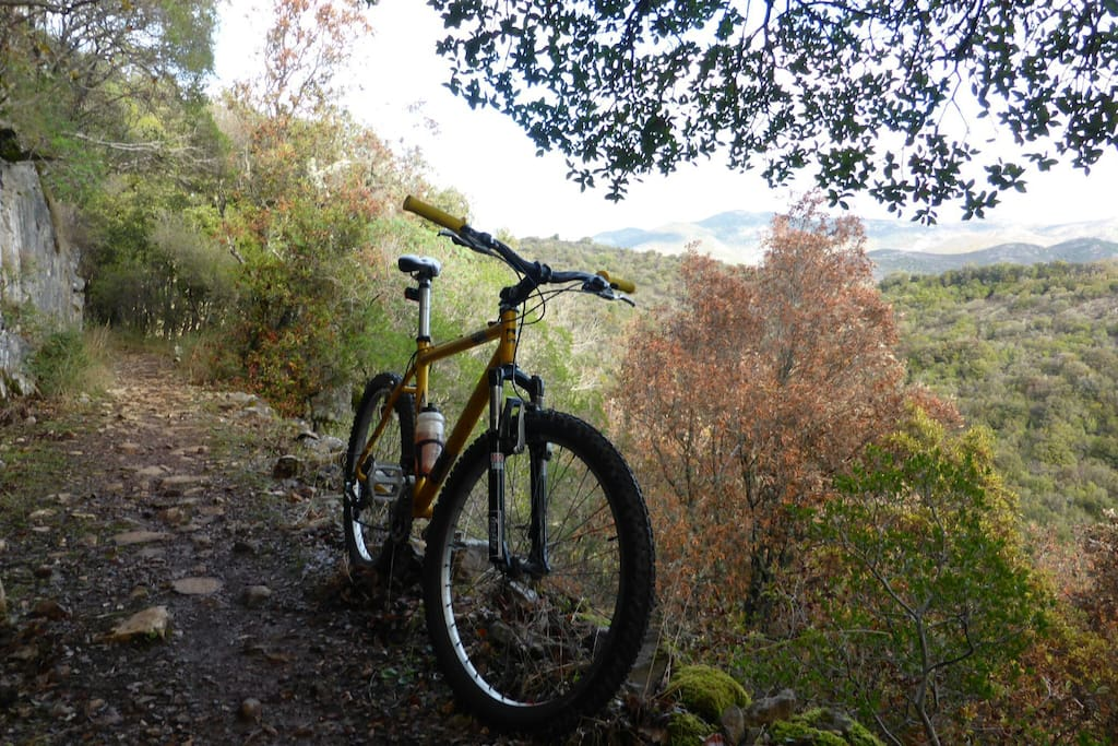 Mountain biking along ancient trails in Sardinia