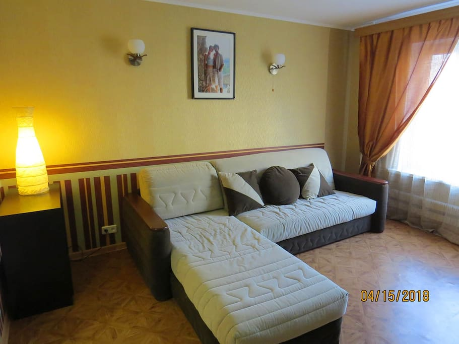 The guest room with big sofa-bed.
