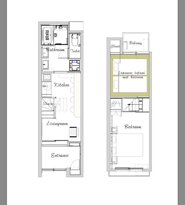 房屋为2层,面积约50平方米