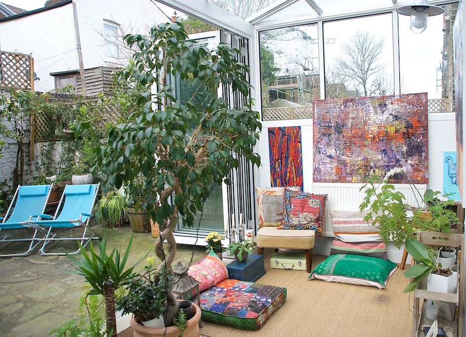 Conservatory and part of the garden