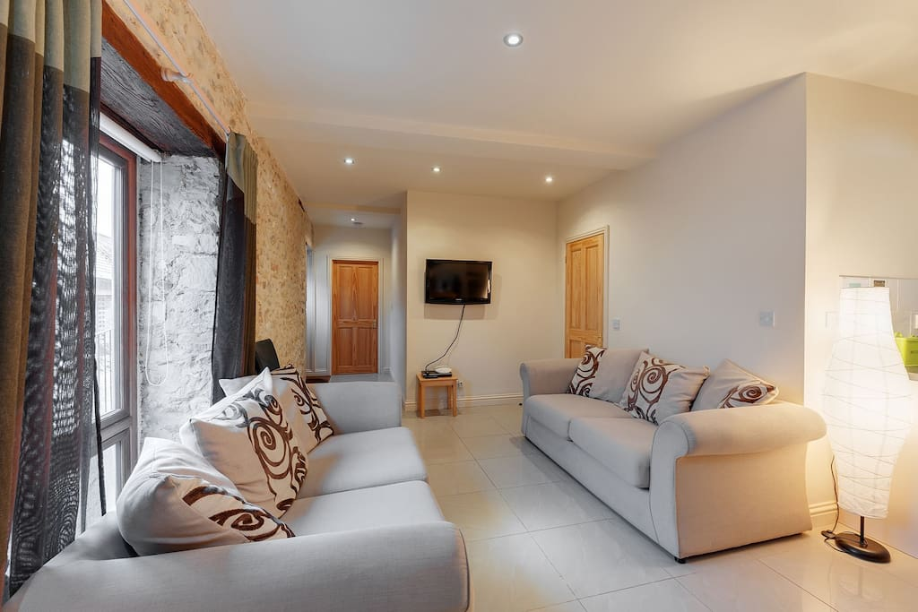 Ground floor: Lounge area in the open plan living space