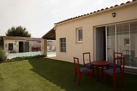 Studio l'Obrador 25 m2, terrasse + accès piscine