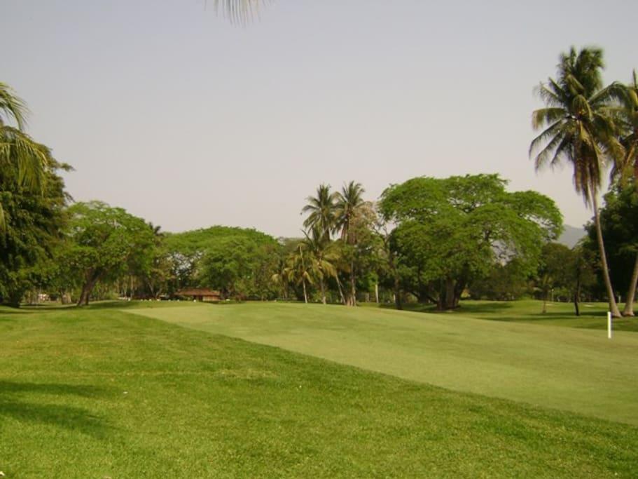 maravillosas vista al campo de golf
