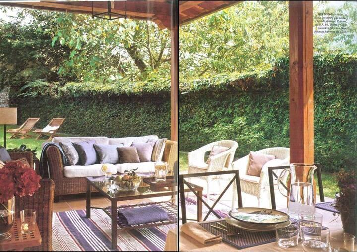 Casa con Jardin cerca Mar y Montaña. WIFI GRATIS