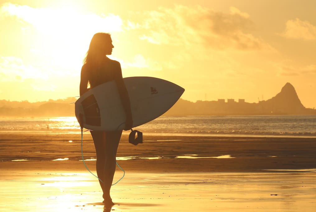 hang out and surf