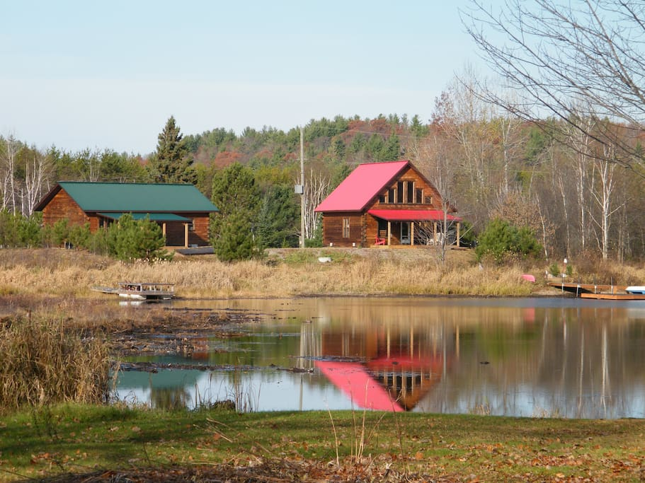 Cabins with added covered decks