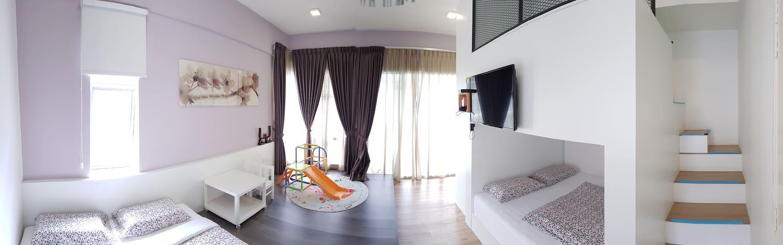 Premium family room for 6 @ Golden Hills