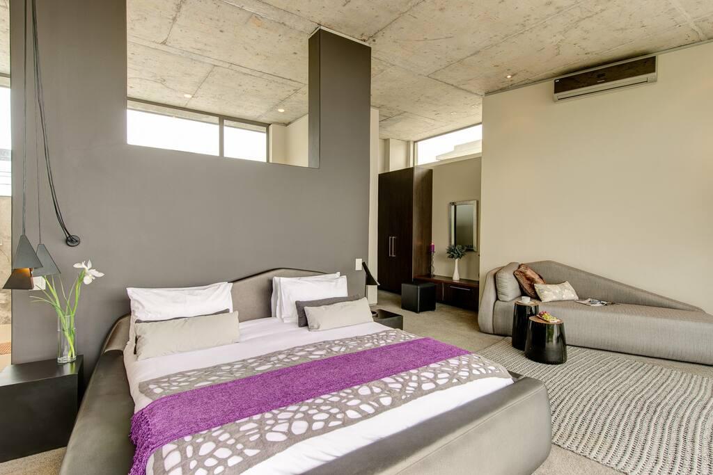 Beautiful purple tones highlight this suite.