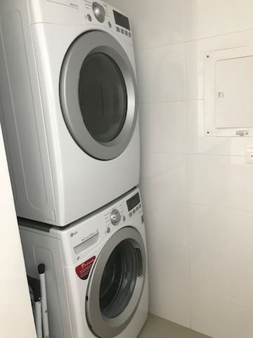 Washing and drying machines inside apartment
