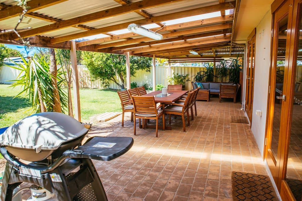 Beautiful patio at rear of house.