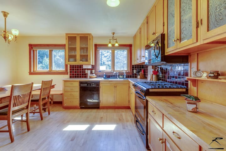 Large family kitchen.