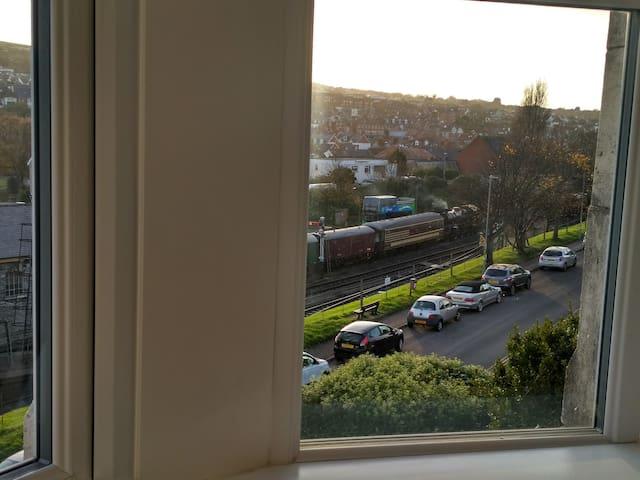 Overlooking Steam Railway Station