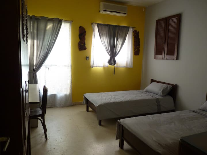 Single beds room in trendy Badaro