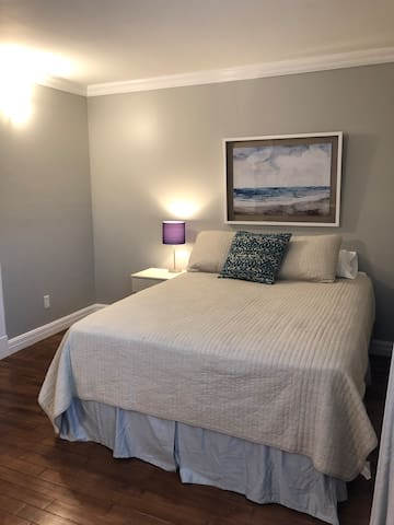 Cozy queen with closet - lots of room to hang things up!