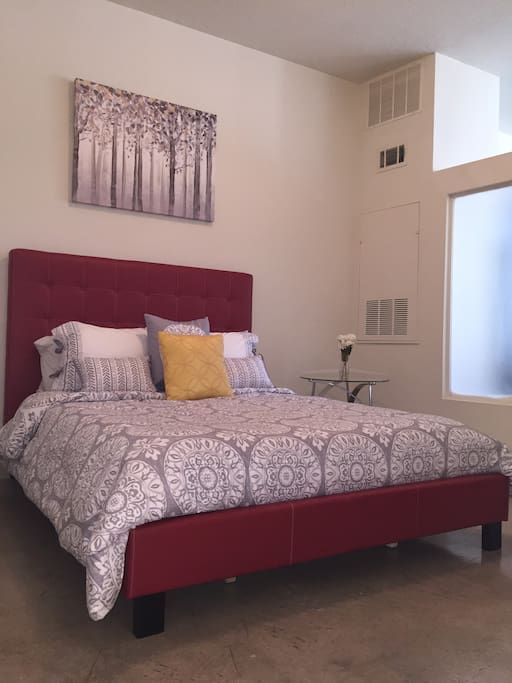 Memory Foam Mattress with a loft-style bed!