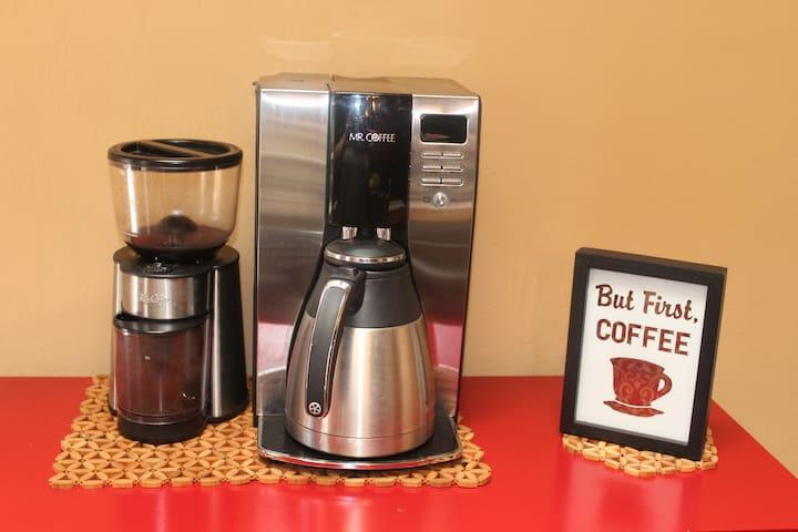 Coffee bar - whole bean grinder