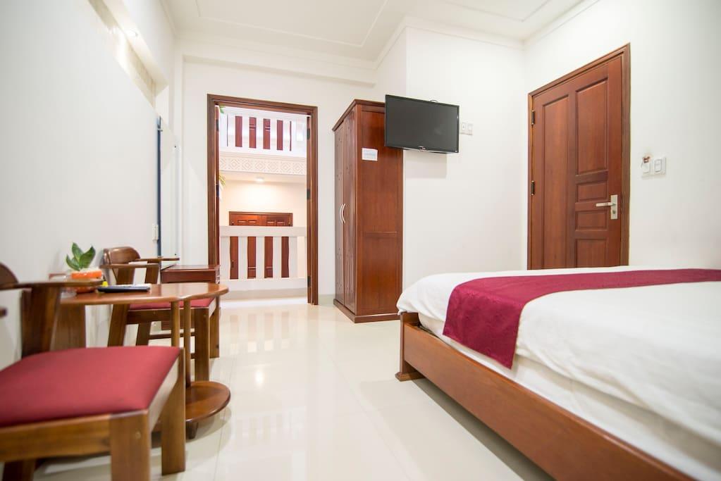 Double bed,closet,TV,Balcony- inside