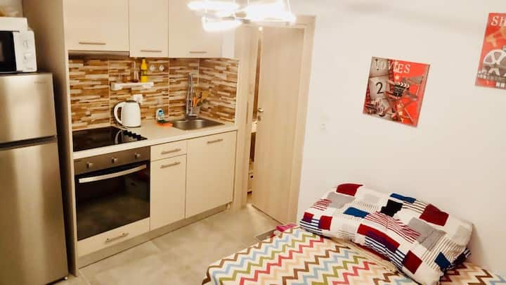 Modern studio with garden 3 mins to metro