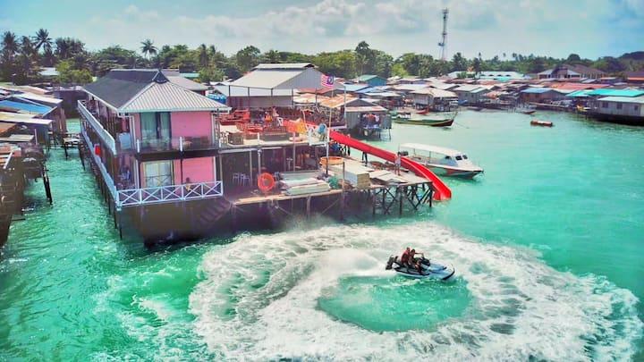 CoCo水上木屋--马布岛店(二楼海景房型)单人入住需补房差