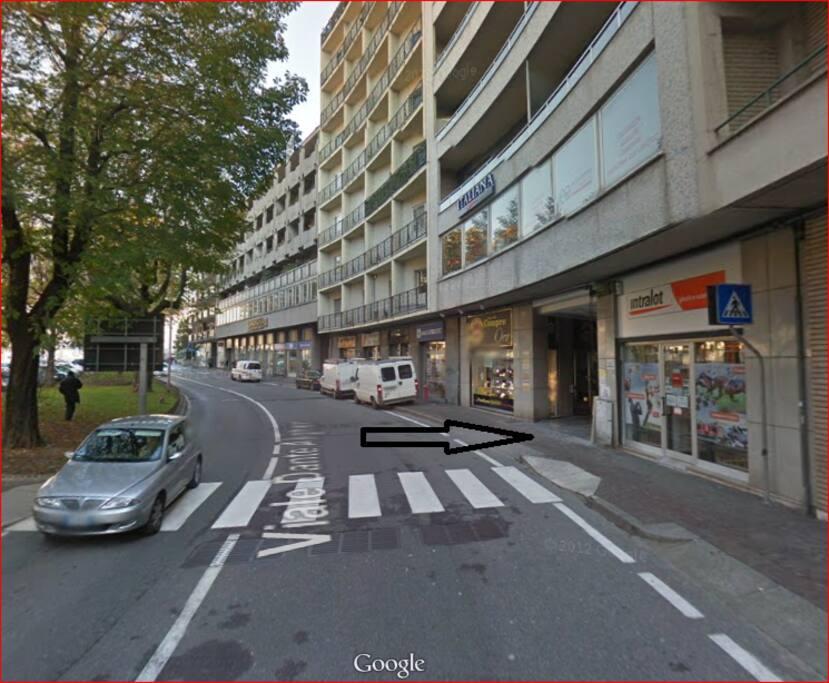 Ingresso Residence: Lecco, Viale Dante 14