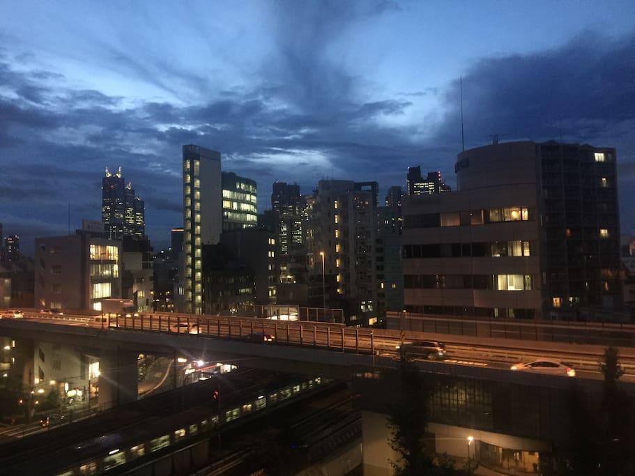 View from your Veranda/Balcony at night